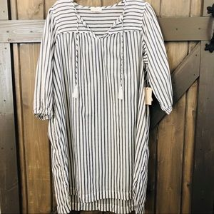Love by Gap Striped Tasseled Night Gown NWT
